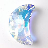 Crystal AB 6722 Swarovski Crystal 20mm Moon Pendant